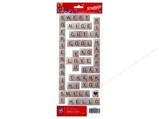 American Crafts Stkr Cdstk Hasbro Scrabble