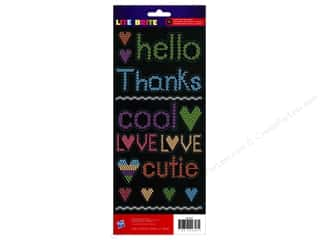 clearance American Crafts Thickers Stickers: American Crafts Stickers Hasbro Lite Brite Phrases