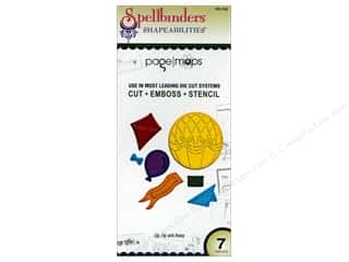 Clearance Spellbinders Presto Punch Template: Spellbinders Shapeabilities Die Up, Up and Away