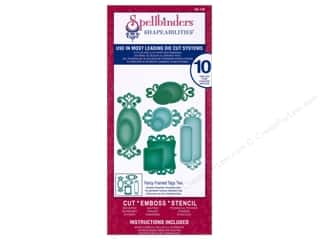 Spellbinders $5 - $10: Spellbinders Shapeabilities Die Fancy Framed Tags Two