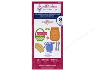 Clearance Spellbinders Presto Punch Template: Spellbinders Shapeabilities Die Homespun