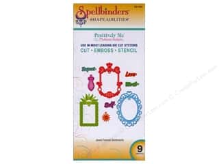 Clearance Spellbinders Presto Punch Template: Spellbinders Shapeabilities Die Jewel Framed Sentiments