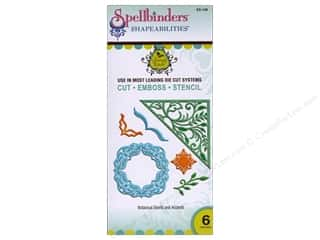 Clearance Spellbinders Presto Punch Template: Spellbinders Shapeabilities Botanical Swirls and Accents