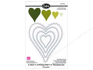 Sizzix Die SBarnard Framelits Set Hearts Scallop#2