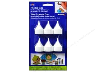 Bottle Tips / Bottle Tops: Plaid Paint Essentials Writer Tip Tops 6pc