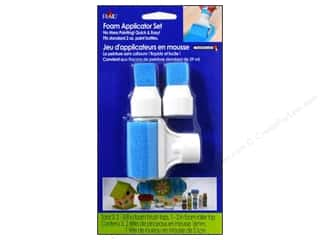 Sponges: Plaid Paint Essentials Foam Applicator Tops 3pc