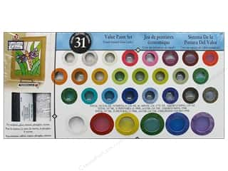 Plaid Gallery Glass Window Color Paint Set 31color