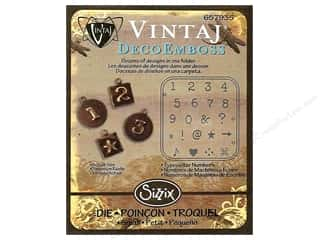 Embossing Aids ABC & 123: Sizzix DecoEmboss Die Typewriter Numbers by Vintaj