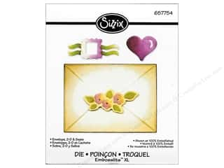 Hearts Sizzix Die: Sizzix Embosslits XL Die Envelope 2-D & Seals by Debi Adams