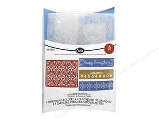 Sizzix TI Embossing Folders 4PK Holiday Damask