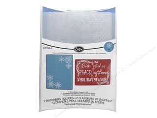 Sizzix Emboss Folder JLong  Snowflake Season