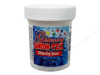 Resin, Ceramics, Plaster Clay & Modeling: DecoArt Snow-Tex Glistening Glitter Snow 2oz