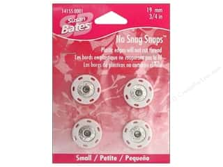 "Susan Bates Sewing Construction: Bates No Snag Snaps Small .75"" White"