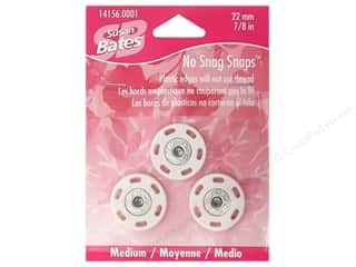 "Susan Bates Sewing Construction: Bates No Snag Snaps Medium 7/8""  White"