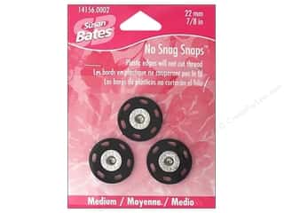 "Susan Bates Sewing Construction: Bates No Snag Snaps Medium 7/8"" Black"