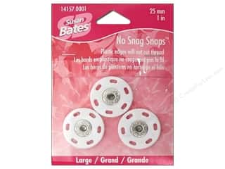 Bates No Snag Snaps Large 1&quot;  White