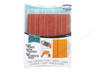 Straight Stitch Rubber Stamping: Sizzix Hero Arts Textured Impressions Emboss Folder//Stamp Fun Stripes