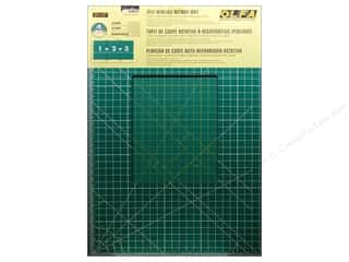 "Rotary Cutting $0 - $5: Olfa Cutting Mat 35""x70"" Set Green with Grid 1.5mm"