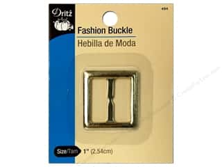 Gold: Fashion Buckle by Dritz 1 in. Metallic Gold