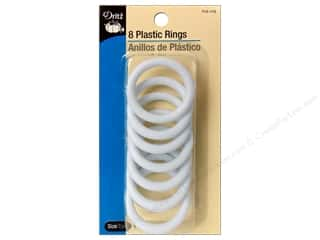 Plastics: Plastic Rings by Dritz 1 1/2 in. 8pc.