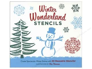 winter clearance craft: Chronicle Winter Wonderland Stencils Book by Alice Stevenson