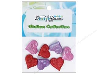 Buttons Galore Theme Glitter Hearts