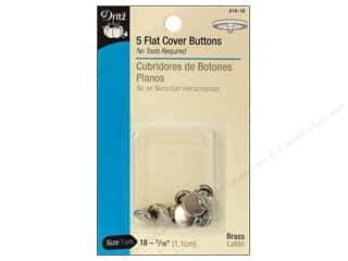 Snaps $5 - $7: Cover Buttons by Dritz Flat 7/16 in. 5 pc.