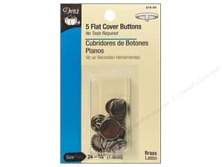 Buckles Bulk & Cover Buttons: Cover Buttons by Dritz Flat 5/8 in. 5 pc.