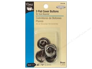 "Dritz Cover Button Flat Size 36 7/8"" 3pc"
