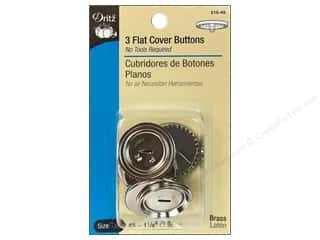 Dritz Cover Button Flat Size 45 1 1/8&quot; 3pc