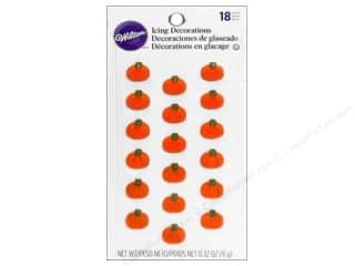 Wilton Icing Decorations Mini Pumpkins18pc