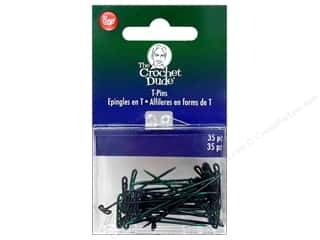 "t pins: Boye Accessories Crochet Dude T Pins 1.5"" 35pc"