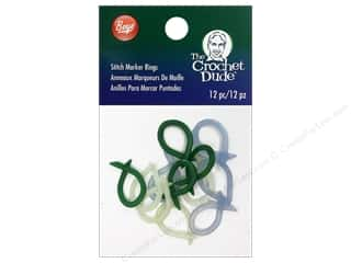 Boye Yarn Accessories Crochet Dude Stitch Marker Rings 12pc