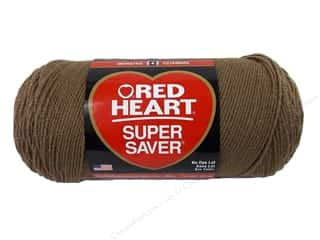 Red Heart Super Saver Jumbo Yarn Cafe Latte 14 oz.