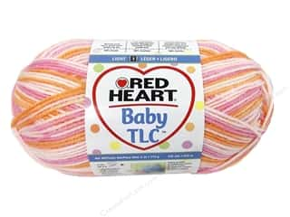 Clearance Red Heart Designer Sport Yarn: Red Heart Baby TLC Yarn 4oz Strawberry Orange 242yd