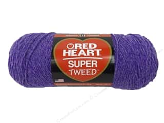 Red Hat Purple: Coats & Clark Red Heart Super Tweed Yarn 5oz Violets