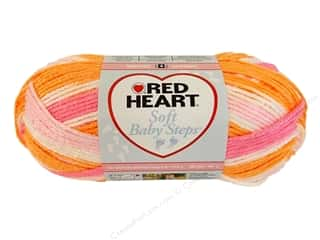 Baby Yarn & Needlework: Red Heart Soft Baby Steps Yarn #9931 Sorbet 4 oz.