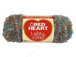 Clearance Red Heart Light & Lofty Yarn: Red Heart Light & Lofty Yarn #9943 Beachy Keen 4.5 oz.