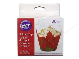 Wilton Baking Cup Mini Poinsettia 30pc