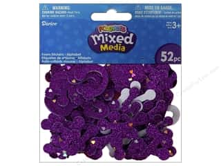 Darice Foamies Sticker Confetti Alpha Purple 52pc