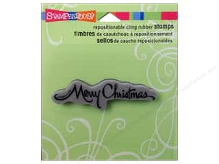 Stampendous Cling Rubber Stamp Retro ScptChristmas