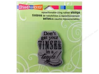 Stampendous Cling Rubber Stamp Tinsel Tangle