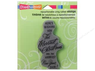 Stampendous Cling Rubber Stamp Merriest Wish