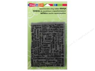 Stampendous Cling Rubber Stamp Hall Autumn Words