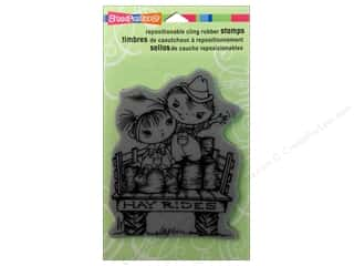Holiday Sale Stampendous Cling Rubber Stamp: Stampendous Cling Rubber Stamp Hall Hay RideKiddos