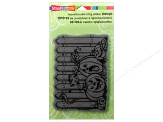 Stampendous Cling Rubber Stamp Hall Picket Pumpkin