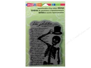 Stampendous Cling Rubber Stamp Hall Skeleton Poem