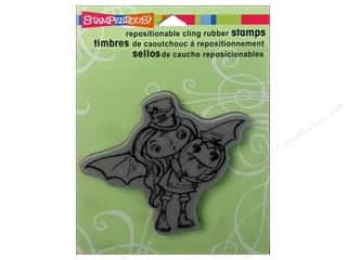 Stampendous Cling Rubber Stamp Hall Bat Girl Kiddo