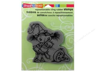 Stampendous Cling Rubber Stamp Hall ScaredCatKiddo