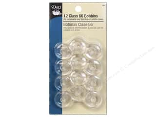 Dritz Bobbins Plastic Class 66 12pc